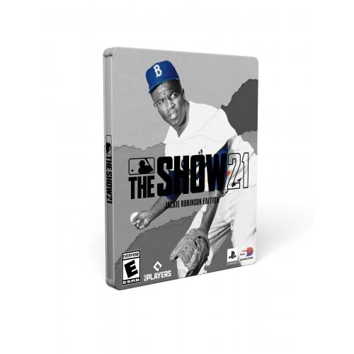 MLB The Show 21 Jackie Robinson MVP Edition PS4 with PS5 Entitlement - For PS4 with PS5 Entitlement - ESRB Rated E (Everyone) - Releases 4/16/2021 - Sports Game - Play as all-new legends!