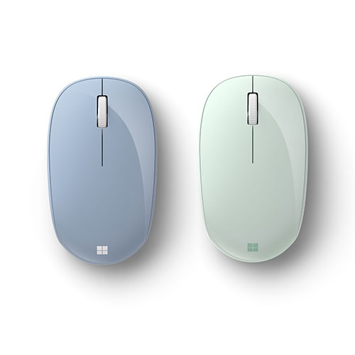 Microsoft Bluetooth Mouse Pastel Blue + Bluetooth Mouse Mint - Wireless - Bluetooth - 2.40 GHz - 1000 dpi - Scroll Wheel - 4 Button(s)