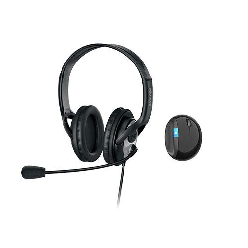 Microsoft LifeChat LX-3000 Digital USB Stereo Headset Noise-Canceling Microphone + Sculpt Ergonomic Mouse - Premium Stereo Sound - USB 2.0 Connection - Leatherette Ear Pads - Wireless Mouse - Ergonomic Design