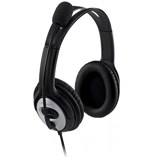 Microsoft LifeChat LX 3000 Digital USB Stereo Headset Noise Canceling Microphone + Microsoft 4500 Mouse Black, Anthracite