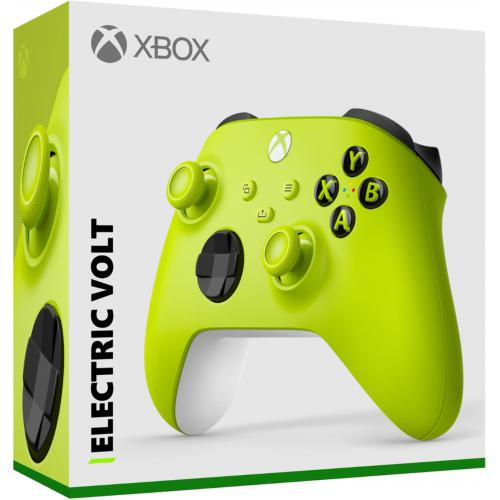 Xbox Wireless Controller Electric Volt   Wireless & Bluetooth Connectivity   New Hybrid D Pad   New Share Button   Featuring Textured Grip   Easily Pair & Switch Between Devices