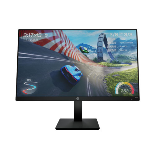"""HP X27 27"""" FHD IPS 165Hz 1ms Gaming Monitor   1920 X 1080 Full HD Display @165Hz   In Plane Switching (IPS) Technology   1ms Response Time   AMD FreeSync Premium Technology   Feat. OMEN Gaming Hub"""