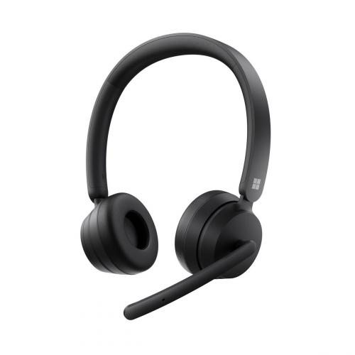Microsoft Modern Wireless Headset Black - Bluetooth connectivity - High-quality stereo sound - Comfortable on-ear design - Noise reducing microphone - Up to 50 hr battery life for music