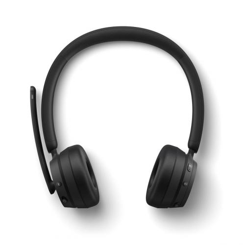 Microsoft Modern Wireless Headset Black   Bluetooth Connectivity   High Quality Stereo Sound   Comfortable On Ear Design   Noise Reducing Microphone   Up To 50 Hr Battery Life For Music