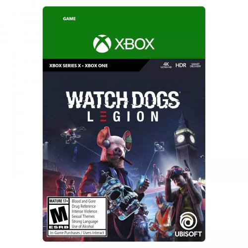 Watch Dogs: Legion Xbox Series X & Xbox One (Email Delivery) - For Xbox Series X & Xbox One - Email Delivery Code Only - ESRB Rated M (Mature 17+) - Single & Multiplayer Supported