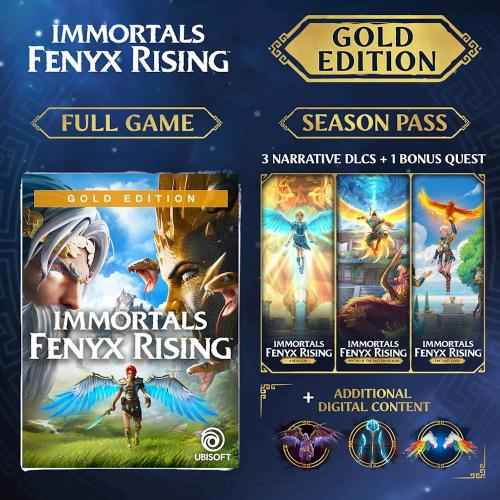 Immortals Fenyx Rising Gold Edition Xbox Series X S/Xbox One (Email Delivery)   For Xbox Series X S & Xbox One   Email Delivery Code Only   Includes Season Pass & Bonus Content W/ Gold Edition   Action/Adventure Game   ESRB Rated T (Teen 13+)