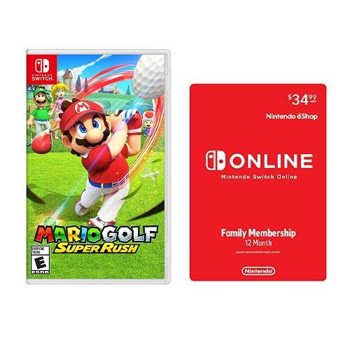 Mario Golf: Super Rush Nintendo Switch + Nintendo Switch Online Family Membership 12 Month Code