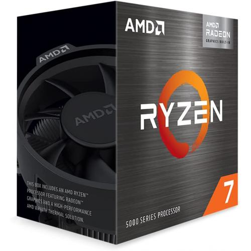 AMD Ryzen 7 5700G 8 core 16 thread Desktop Processor with Radeon Graphics - 8 CPU Cores & 16 Threads - 8 GPU Cores - 3.8 GHz- 4.6 GHz CPU Speed - 16MB Total L3 Cache - PCIe 3.0 Ready