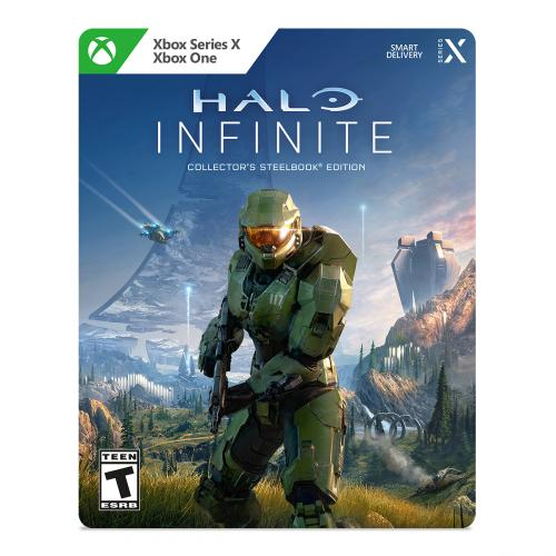 Halo Infinite Collector's Steelbook Edition - For Xbox Series X and Xbox One - ESRB Rated T (Teen 13+) - Pre-order bonuses - Limited edition collectible metal case - Shooter Strategy Game