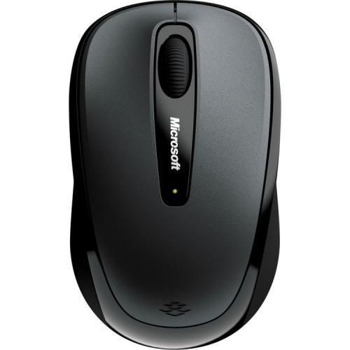 Microsoft 3500 Wireless Mobile Mouse Loch Ness Gray   Radio Frequency Connection   BlueTrack Enabled   Scroll Wheel   Ambidextrous Design   USB Type A Connector