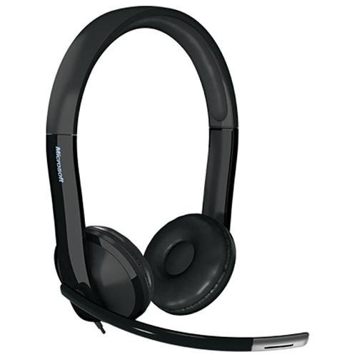 Microsoft LifeChat LX-6000 Headset - Wired Headset - Binaural Headset for Clear Stereo Sound - Noise-Cancelling Microphone - Comfortable 270? Adjustable Boom Mic - In-Line Mute & Volume Controls