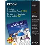 Epson Heavyweight 8.5x11 Matte Paper, 50 Sheets (S041257),