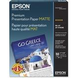 Epson S041468 Borderless Matte Paper Bright White, 11 In X 14 In