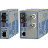 FlexPoint T1/E1 Fiber Media Converter RJ48 SC Multimode 5km