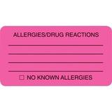 Tabbies Allergy/Drug Reaction Label