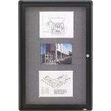 Quartet® Enclosed Radius Fabric Bulletin Board