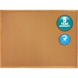 Quartet® Cork Bulletin Board, 6' x 4', Oak Finish Frame