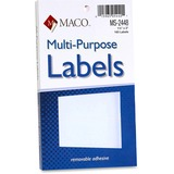 MACO White Multi-Purpose Labels