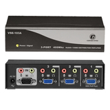 Connectpro VSE-103A, 3-port 400MHz Video/Audio Splitter