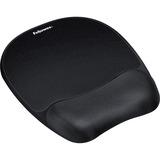 Fellowes Memory Foam Mouse Pad/Wrist Rest, Black (9176501)