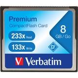 Verbatim 8GB 66X Premium Compact Flash Memory Card - TAA Compliant