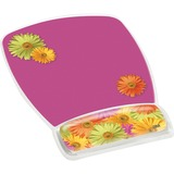 "3M Precise Mouse Pad with Gel Wrist Rest, Daisy Design (MW308DS),Pink (Daisy),9""7.5"""