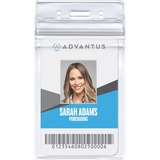 Advantus Vertical Re-sealable Badge Holder