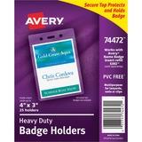 Avery Vertical Style Heavy-Duty Badge Holder