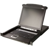 """Aten Slideaway CL5708 17"""" LCD Console 8-Port Combo KVM with Peripheral Sharing Technology"""