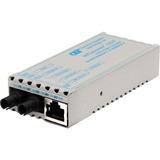 miConverter 10/100/1000 Gigabit Ethernet Fiber Media Converter RJ45 ST Multimode 550m