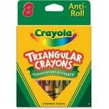 CRAYON,TRIANGLR, 8/BX,AST