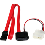 StarTech.com 20in Slimline SATA to SATA with LP4 Power Cable Adapter