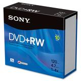 Sony 10DPW47R2 4X 4.7 GB DVD plus RW Discs 10-Pack (Discontinued by Manufacturer)