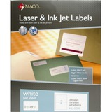 MACO White Laser/Ink Jet Internet Shipping Label