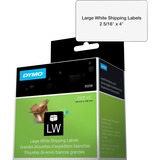 "Dymo LabelWriter Large Shipping Labels - 2 5/16"" x 4"" Length - Rectangle - Direct Thermal - White - 300 / Roll"