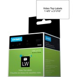"""Dymo LabelWriter Video Top Labels - 1 4/5"""" x 3 1/10"""" Length - Rectangle - Direct Thermal - 150 / Roll - 150 / Roll"""
