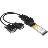 StarTech.com 2 Port Native ExpressCard RS232 Serial Adapter Card with 16950 UART