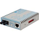 FlexPoint 10/100/1000 Gigabit Ethernet Fiber Media Converter RJ45 ST Multimode 550m