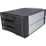 StarTech.com Hot Swap SATA/SAS Backplane RAID Bays - 3 Hard Drive Mobile Rack