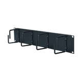 APC 2U Horizontal Cable Organizer - Black - 2U Rack Height