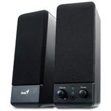 Genius SP-S110 2.0 Speaker System - 1 W RMS - Black