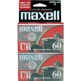 MAXELL 60 MIN NORMAL BIAS AUDIO CASS 2 PK 86