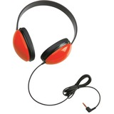 Califone Childrens Stereo Hdphn Lightweight Red Via Ergoguys