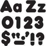 """Trend Black 4"""" Casual Combo Ready Letters Set"""