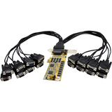 StarTech.com 16 Port Low Profile RS232 PCI Express Serial Card - Cable Included