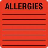 Tabbies Square Allergies Label