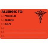 Tabbies Medical Allergy Label