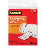 Scotch Front and Back Thermal Pouches - 3.5 x 5 Index Card Size
