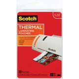 Scotch Front and Back Thermal Laminating Pouches - 4x6 Photo Size