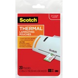 Scotch Thermal Laminating Pouches, 5 Mil Thick for Extra Protection, Professional Quality, 2.3 x 3.7-Inches, 20-Pack (TP5851-20)